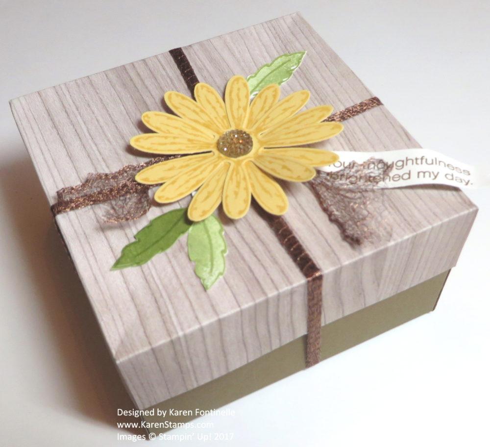 Handmade Daisy Gift Box