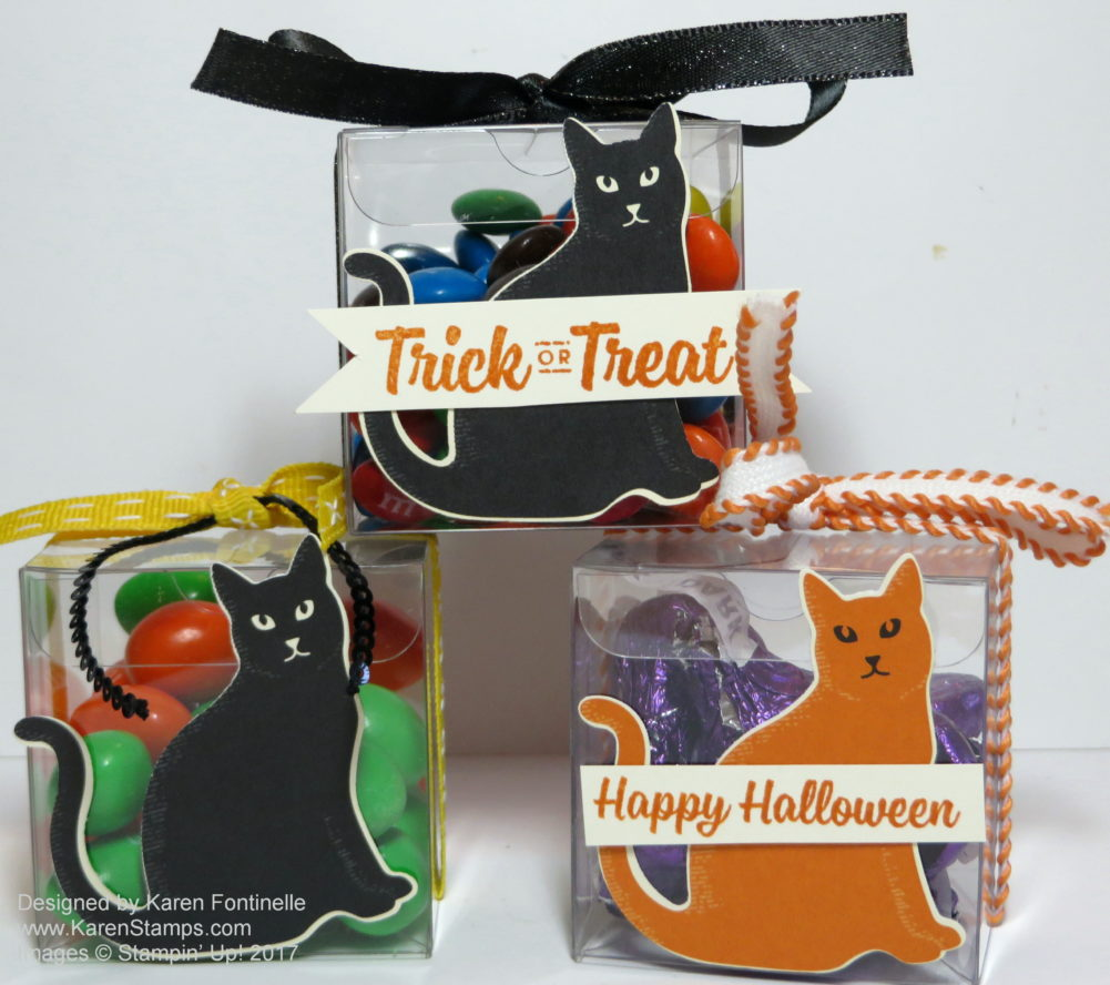 Halloween Tiny Treat Boxes with Spooky Cat