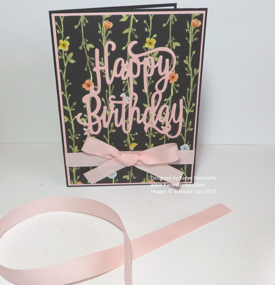 Happy Birthday Greeting Card Die Cut