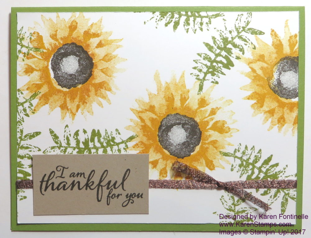 Painted Autumn Card
