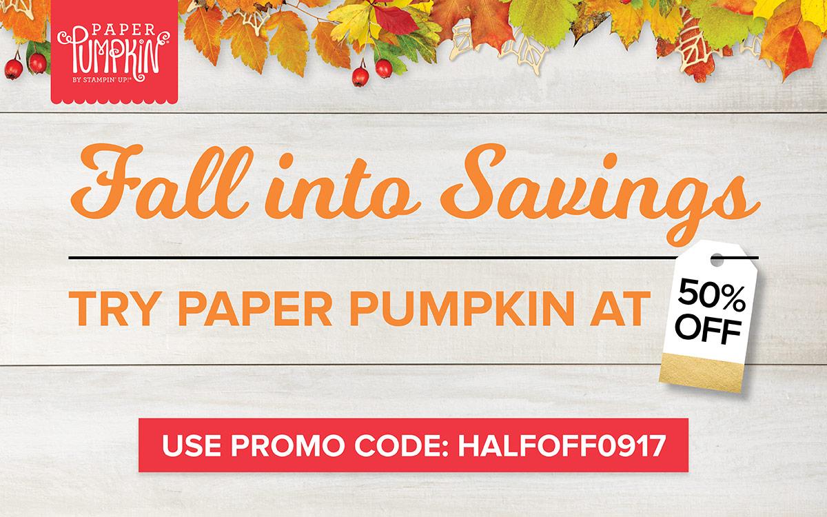Paper Pumpkin Offer Sept 2017