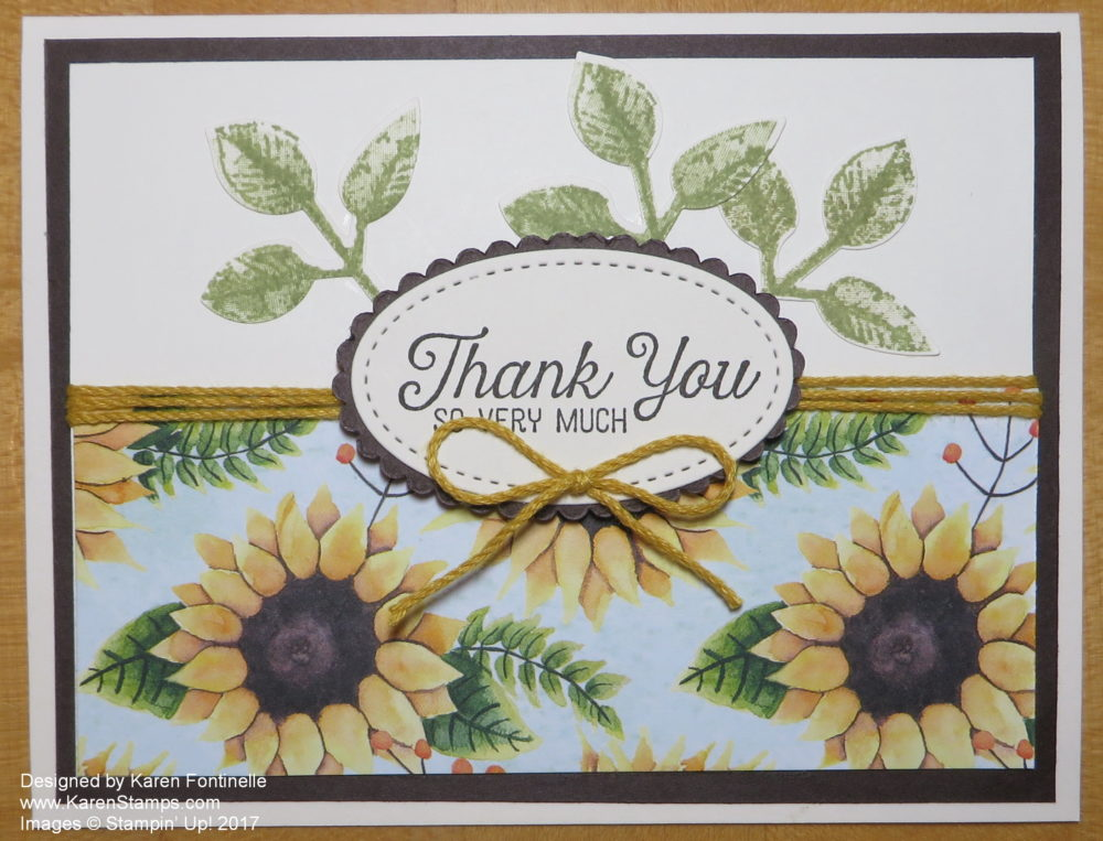 Autumn Themed Thank You Card with Painted Harvest Paper