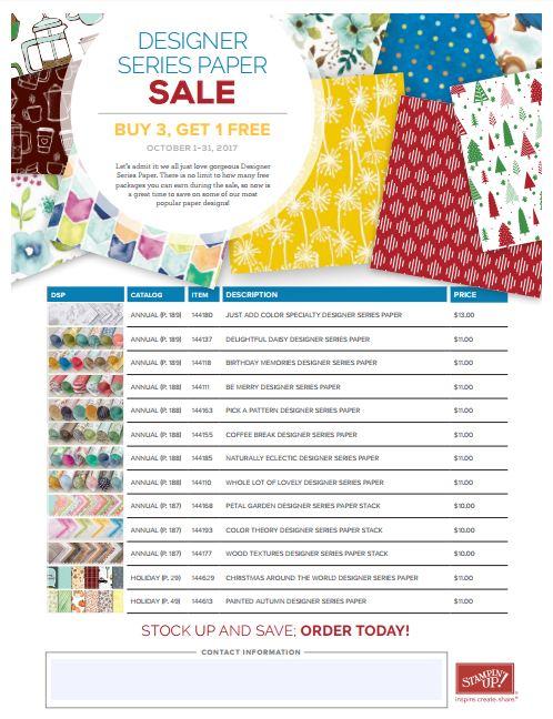 Designer Paper Sale 2017