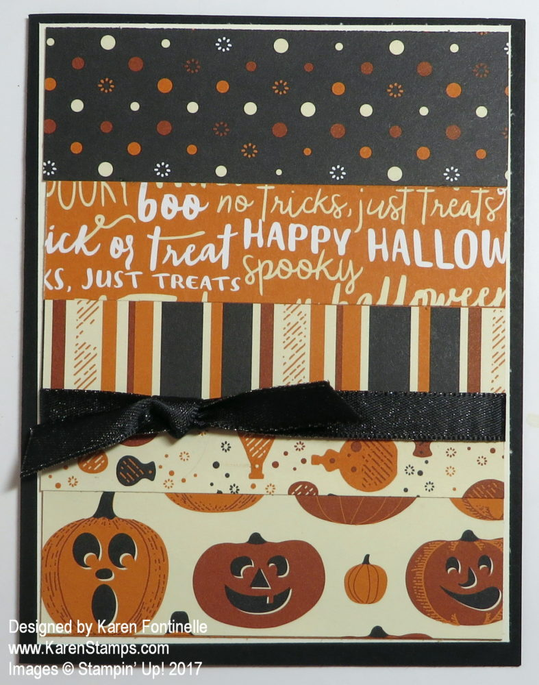 Halloween Card Made with Scraps