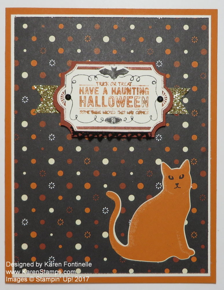 Halloween Card with Spooky Cat