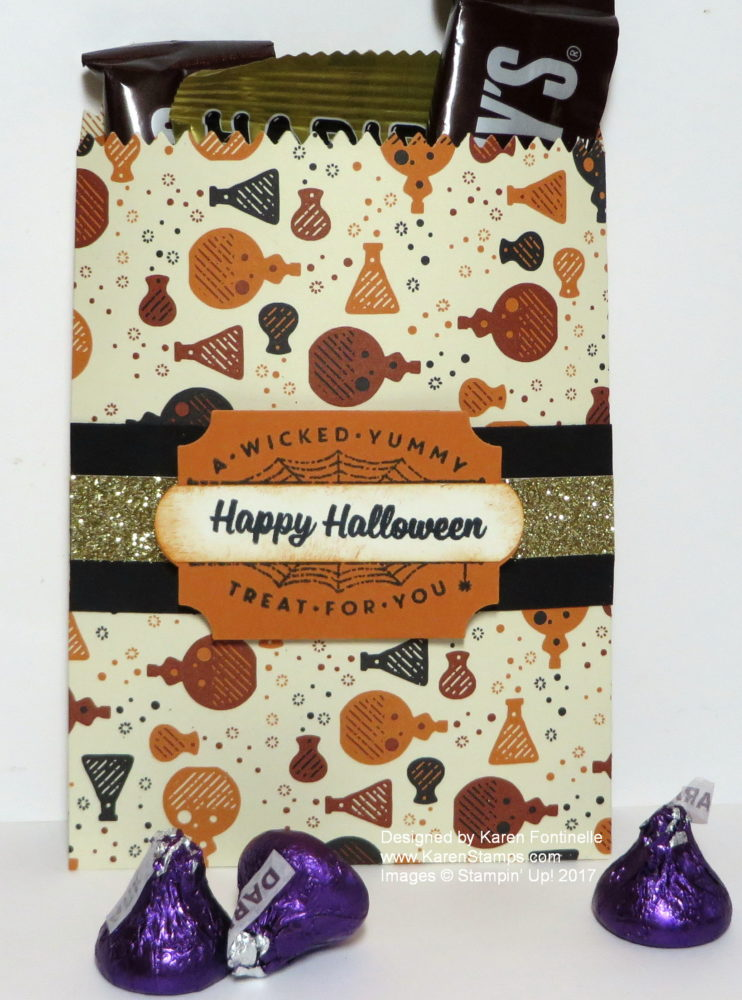 Halloween Treat Bag With Candy