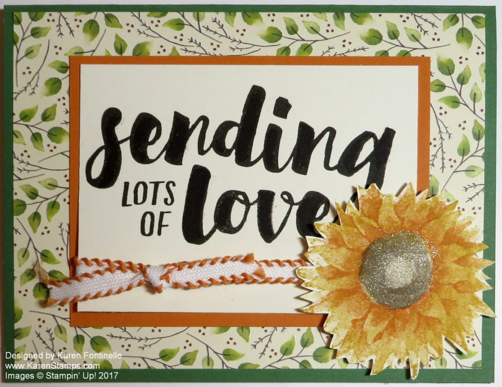Lots of Love Fall Sunflower Card