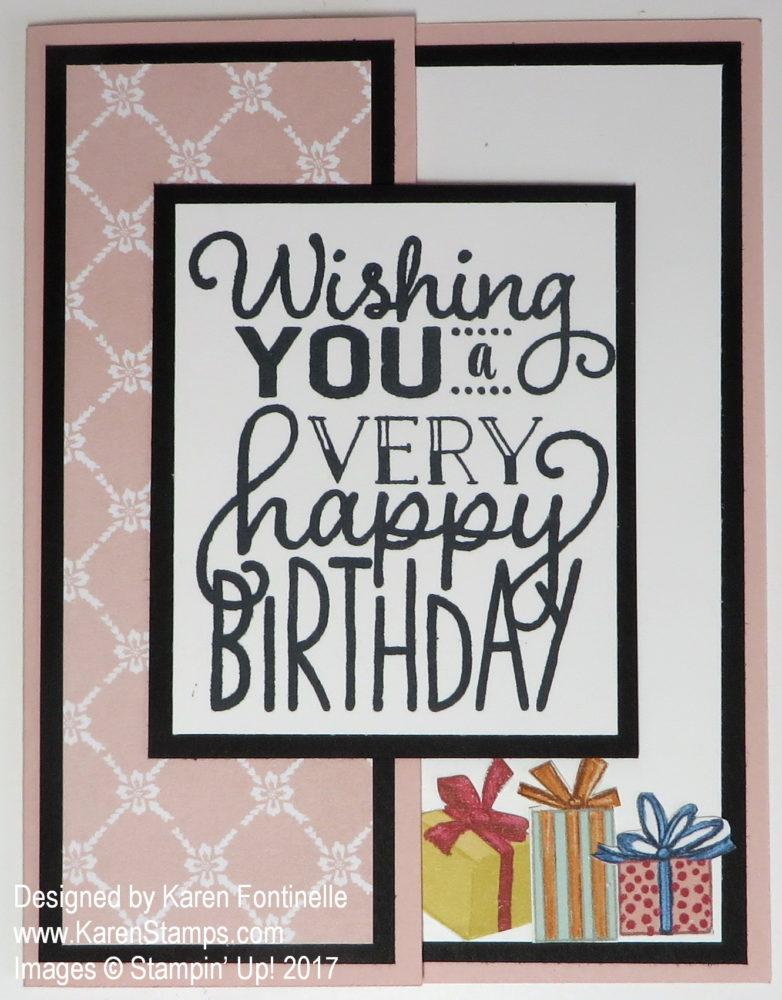 Birthday Memories Birthday Card Stamping With Karen
