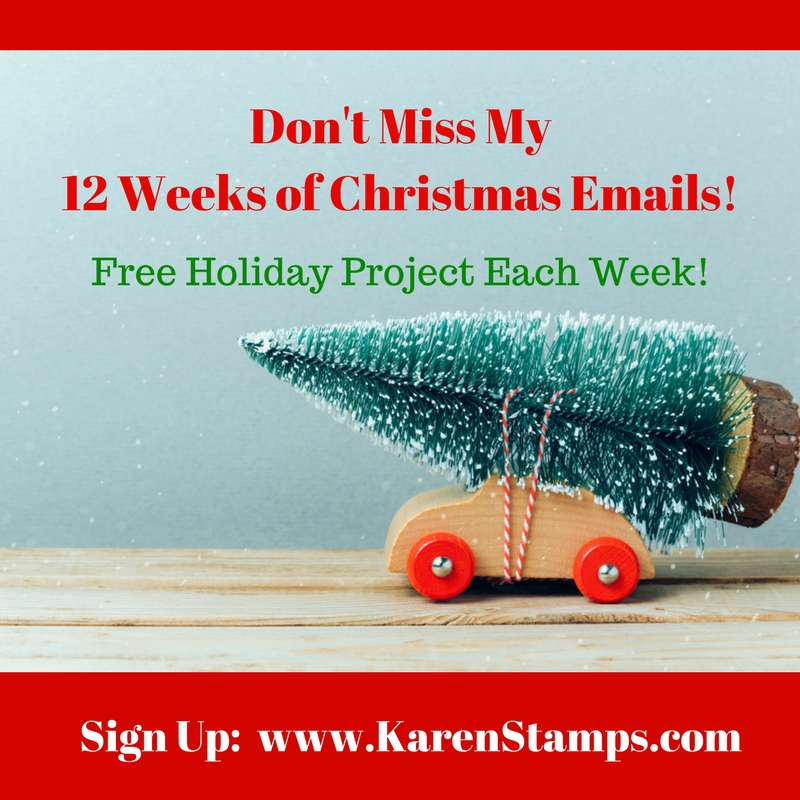 Don't Miss My 12 Weeks of Christmas Emails!