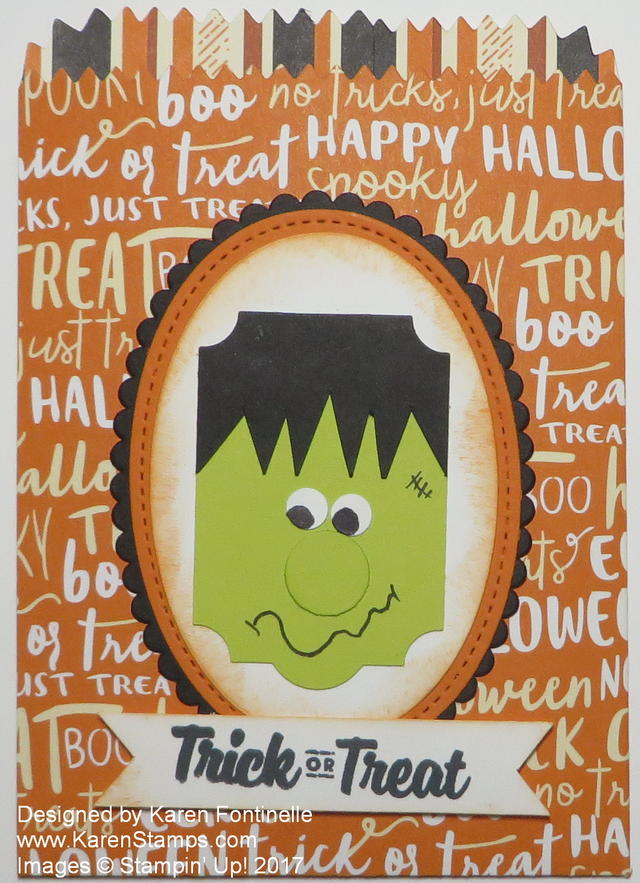 Frankenstein Mini Treat Bag For Halloween