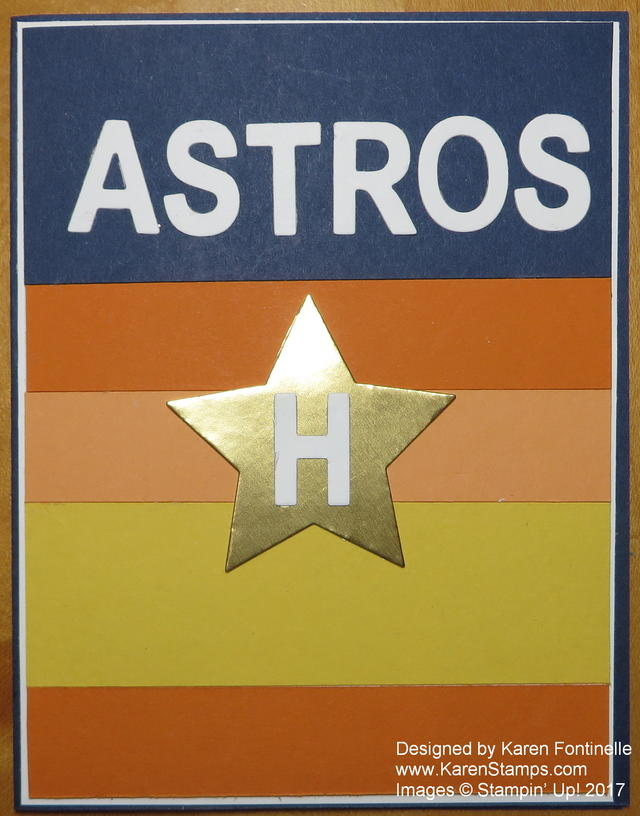 Houston Astros Rainbow Card