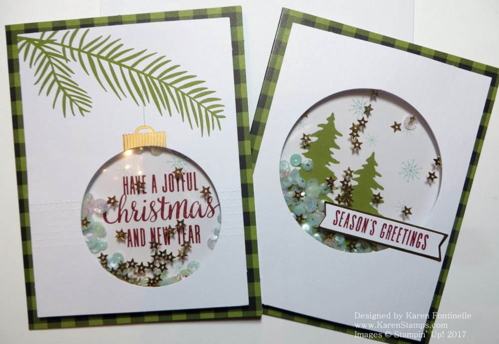 Paper Pumpkin Kit October 2017 Xmas Cards