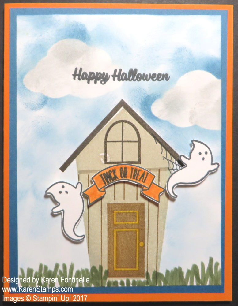 Sweet Home Haunted Halloween House Card