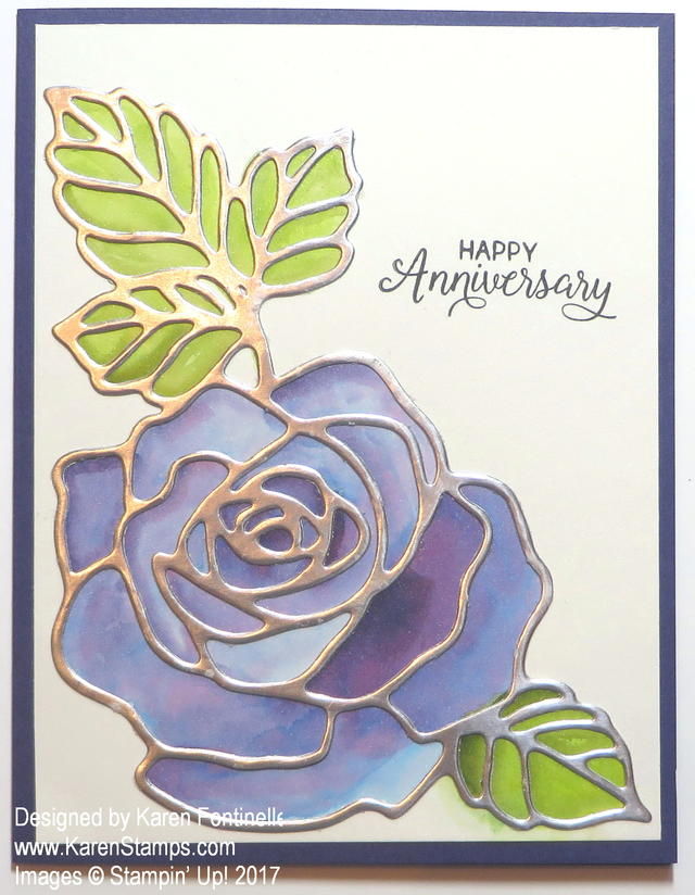 Wedding Anniversary Card with Rose Wonder