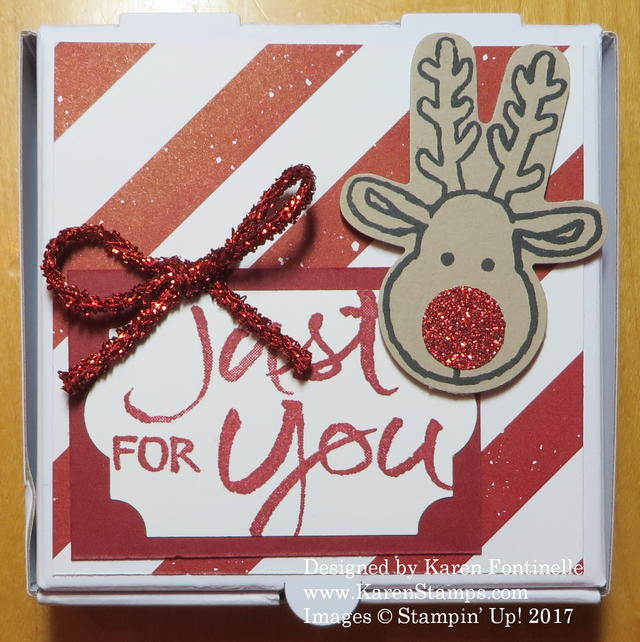 Christmas Pizza Box for Christmas Tags