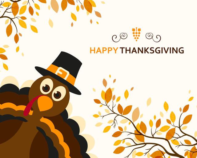 Happy Thanksgiving Turkey Greeting