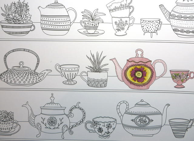 Just Add Color Designer Paper Teapots