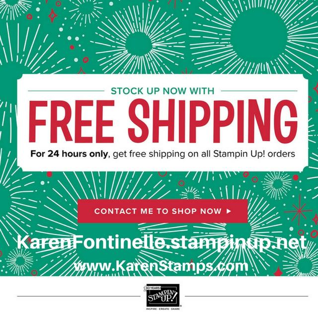 Free Shipping at Stampin' Up! on Cyber Monday