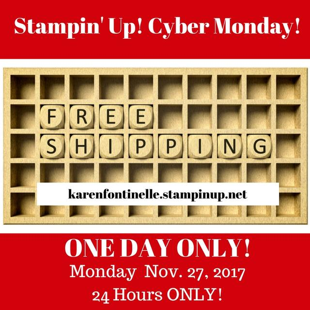 Stampin' Up! Cyber Monday! Free Shipping!