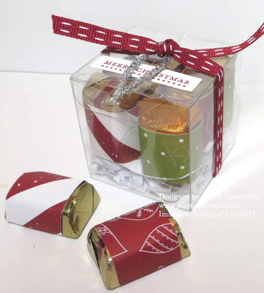 Quick and Easy Christmas Candy Gift Treat Box | Stamping ...