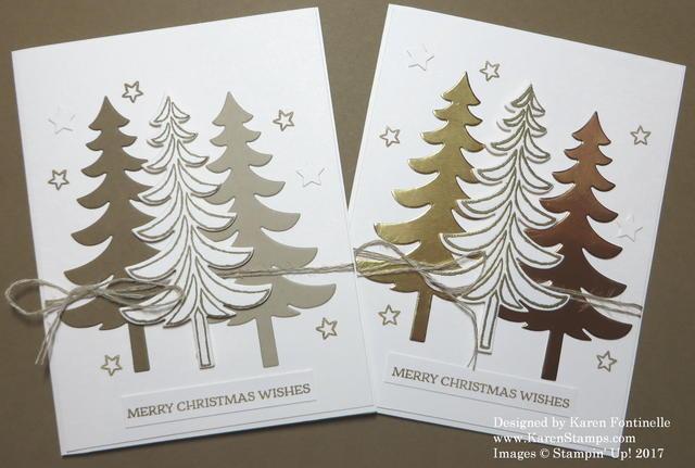 Santa's Sleigh Christmas Tree Christmas Card