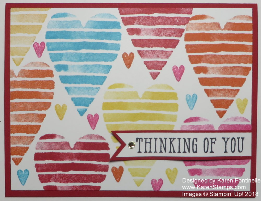 Heart Happiness Thinking of You Card