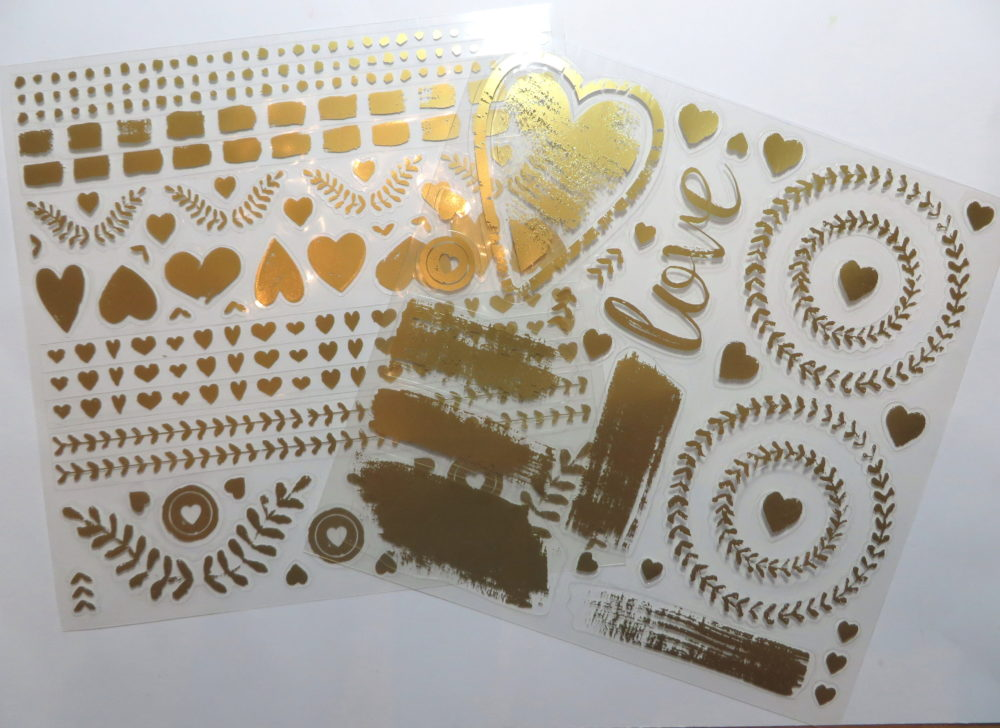 Painted Love Gold Vinyl Stickers