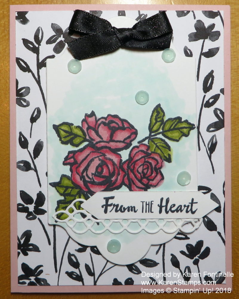 Petal Passion Pink and Black Card