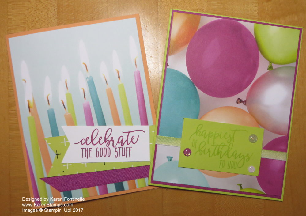 Quick and Easy Picture Perfect Party Birthday Cards