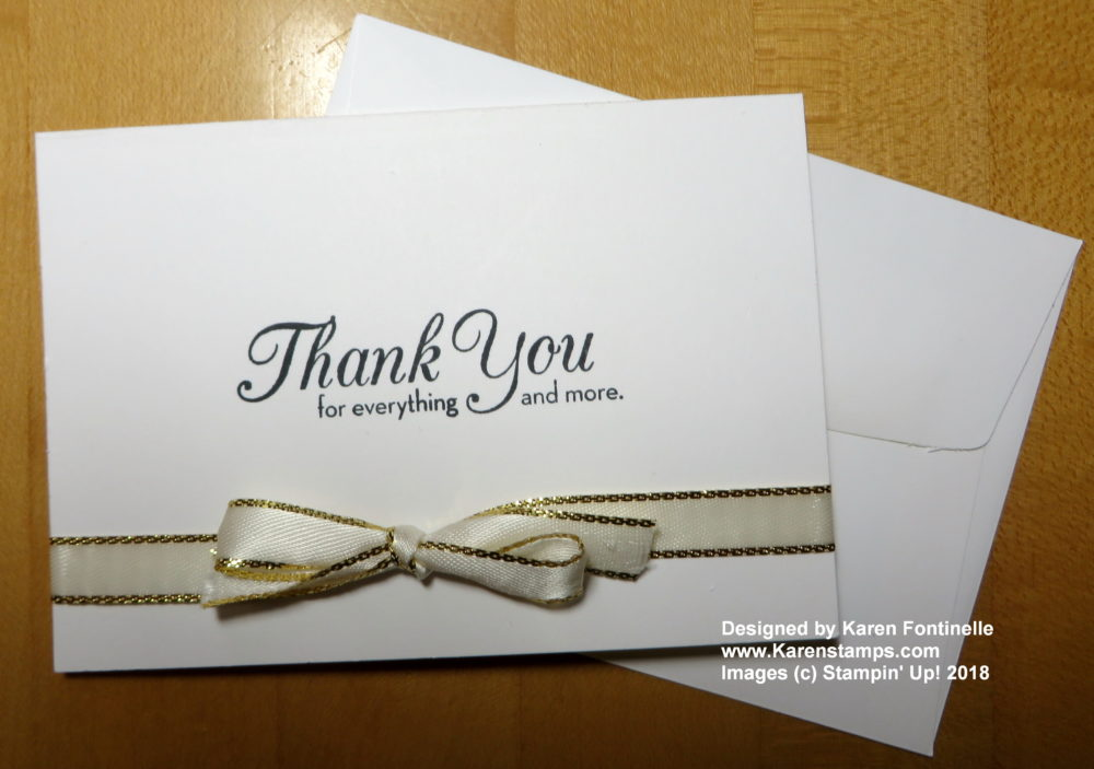 Quick and Easy Thank You Notecard