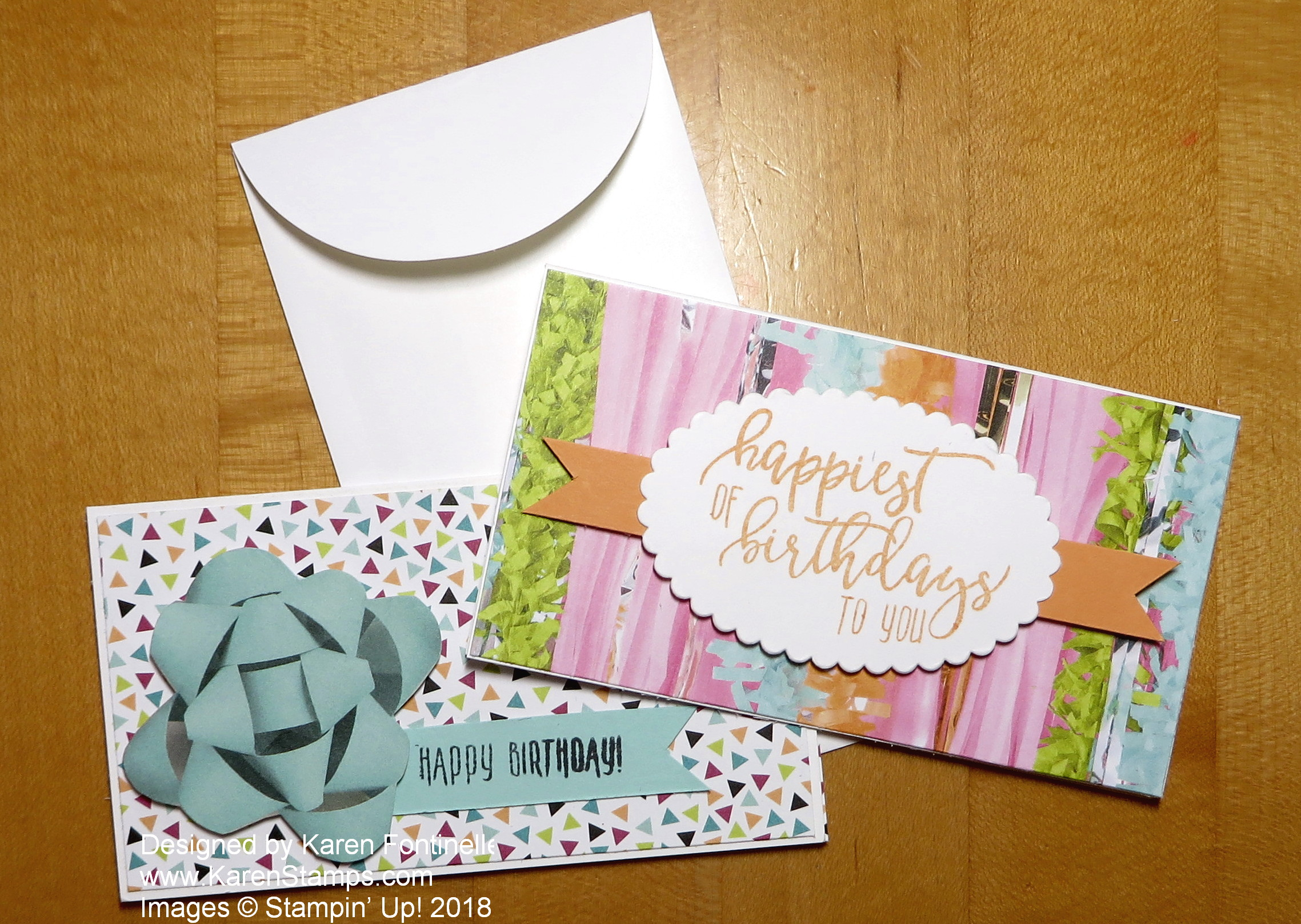 Stampin' Up! Narrow Note Cards For a Birthday