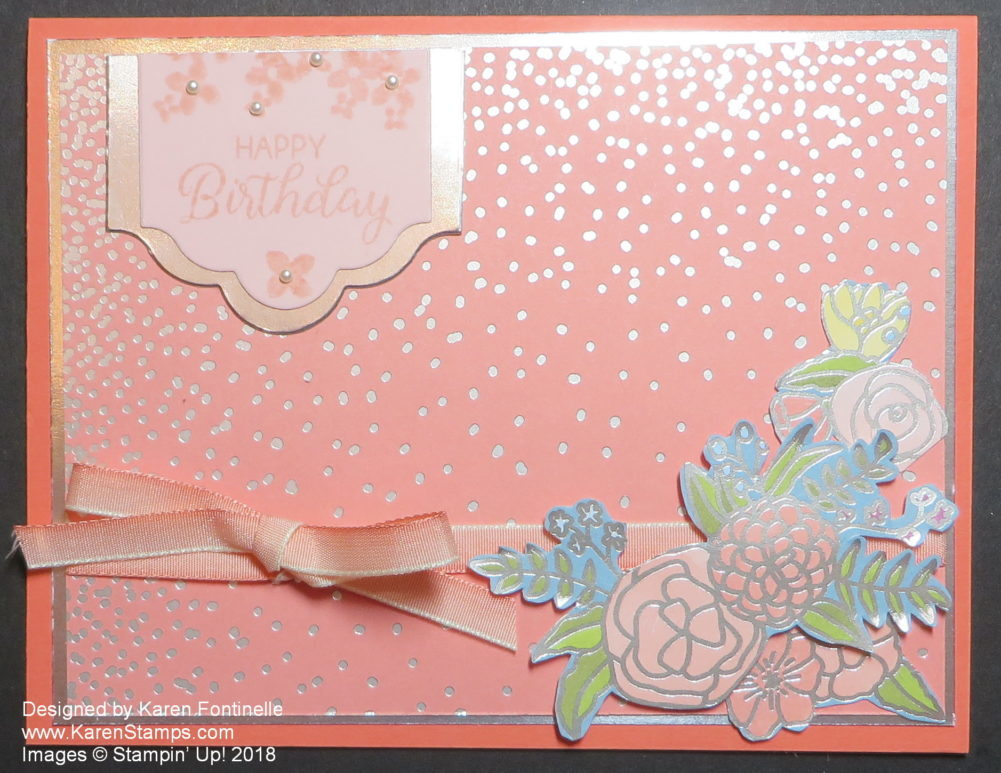 An Elegant Handmade Birthday Card For Someone Special Stamping