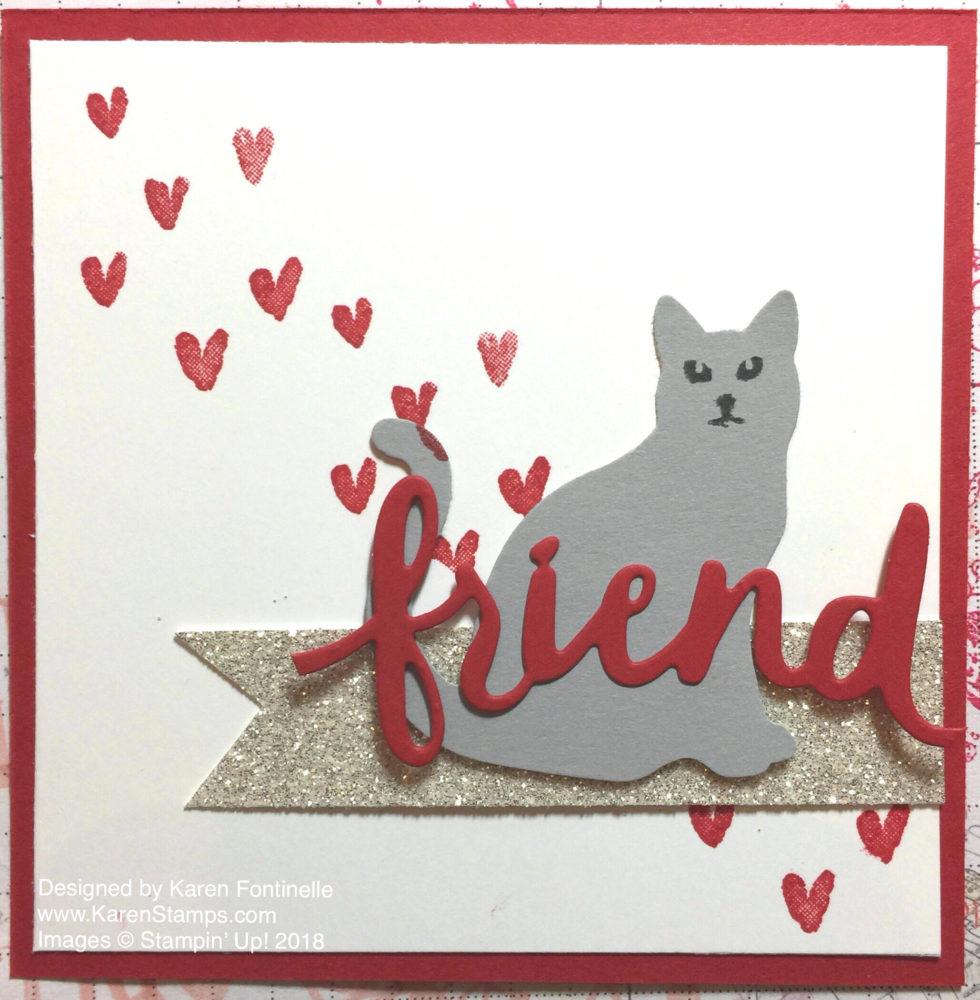 Cat Punch Friend Valentine