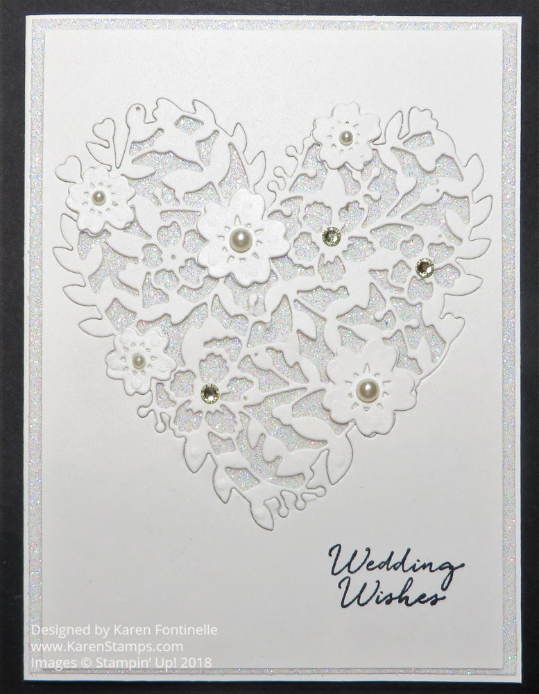 A Handcrafted Wedding Card For the Royal Wedding Couple Stamping