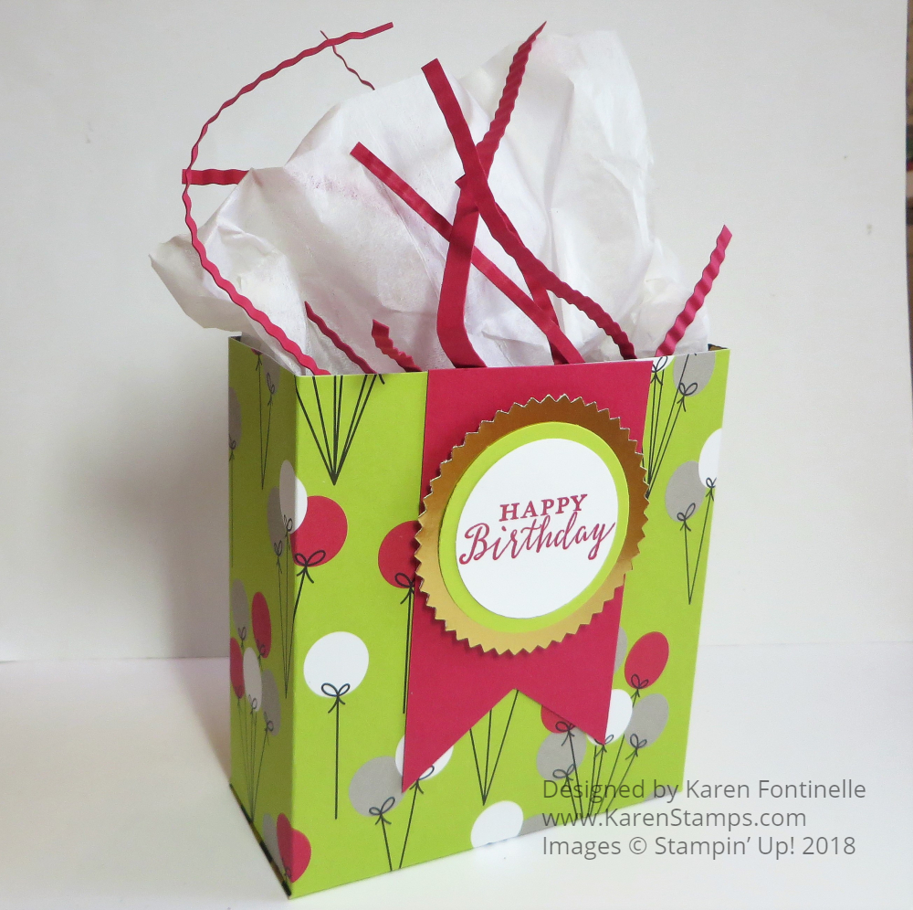 Make Your Own Birthday Gift Bag With Designer Paper