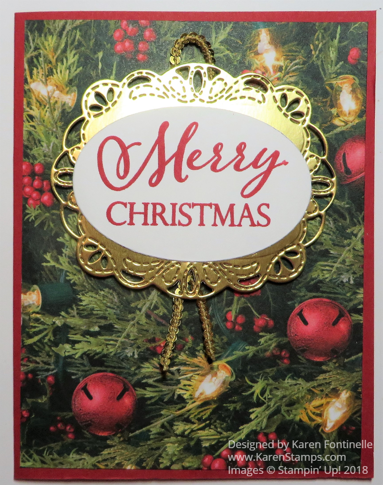 All Is Bright Merry Christmas Card | Stamping With Karen