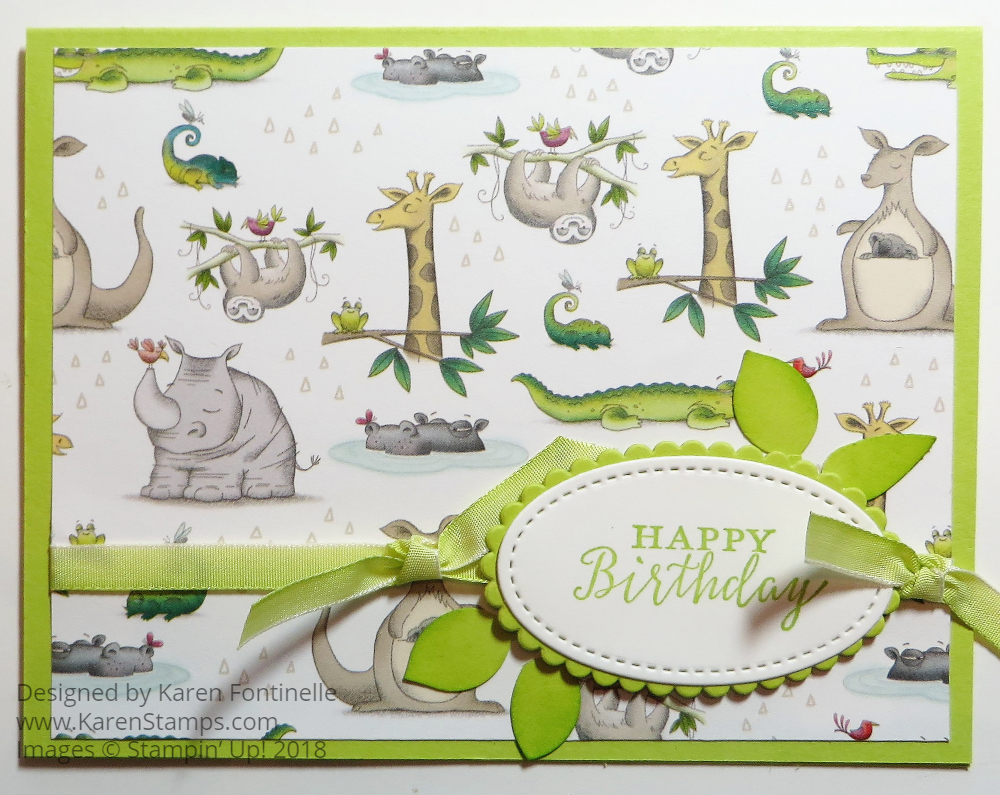 Animal Expedition Playful Animals Birthday Card
