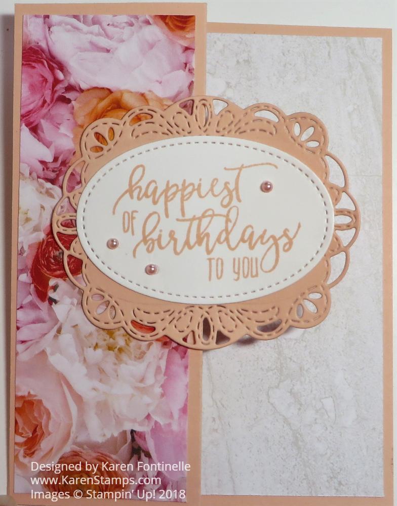 Easy Fancy Petal Promenade Z Fold Birthday Card