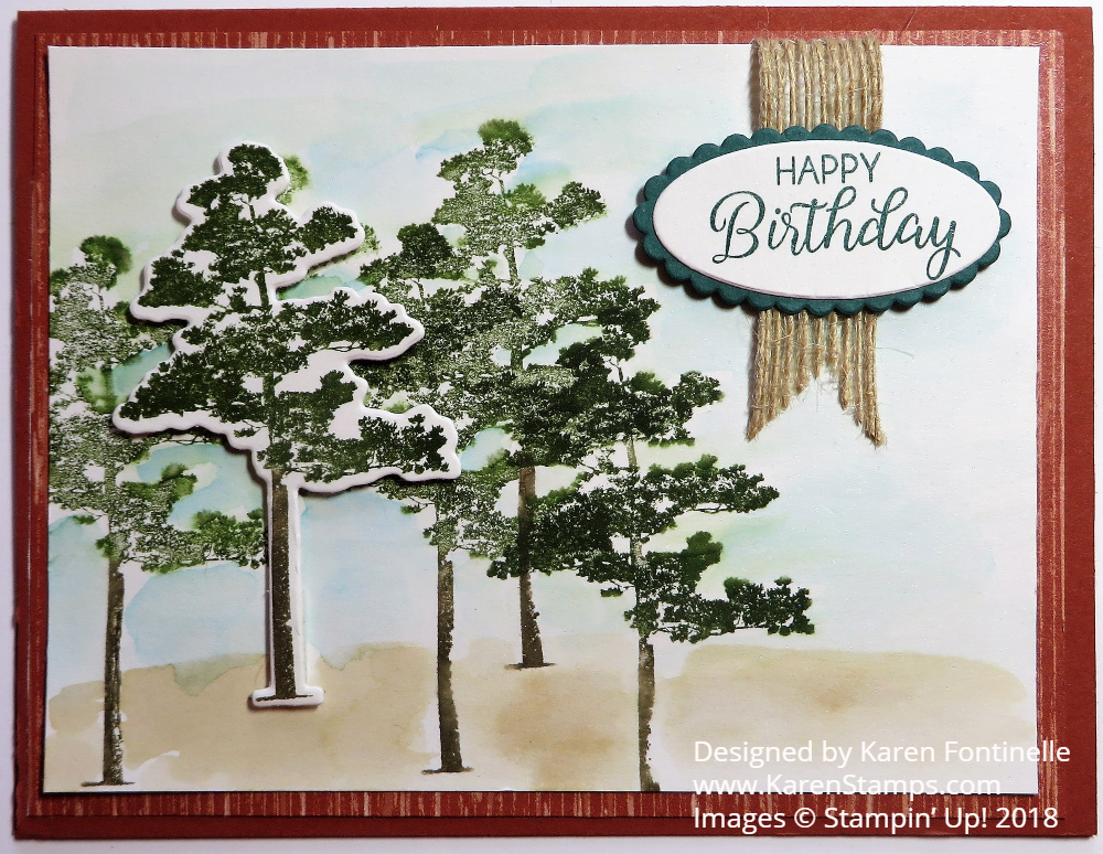 Rooted In Nature Masculine Birthday Card Stamping With Karen
