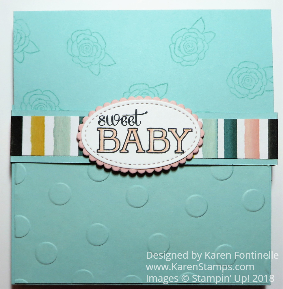 how to make a baby fold out mini album stamping with karen