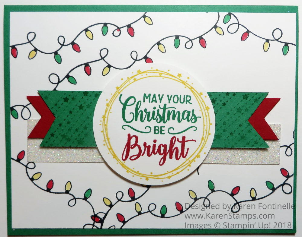 making christmas bright christmas card stamping with karen