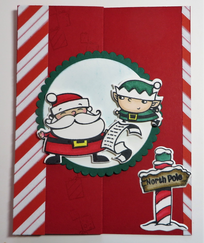 Signs Of Santa Z-Fold Christmas Card