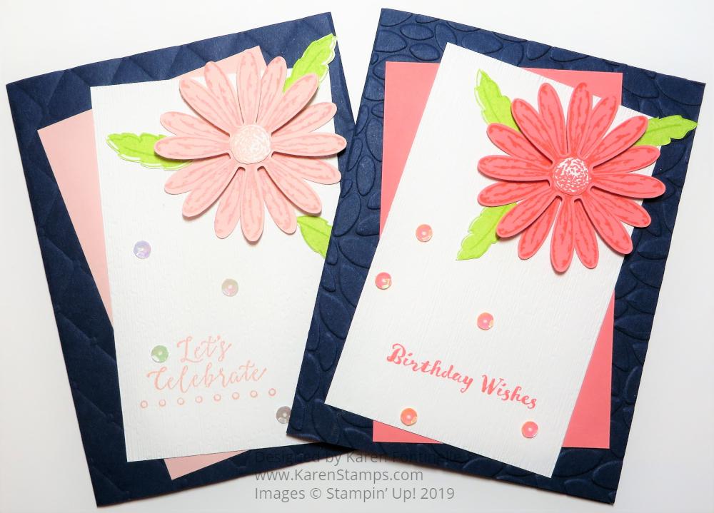 Delightful Daisy Twin Birthday Cards