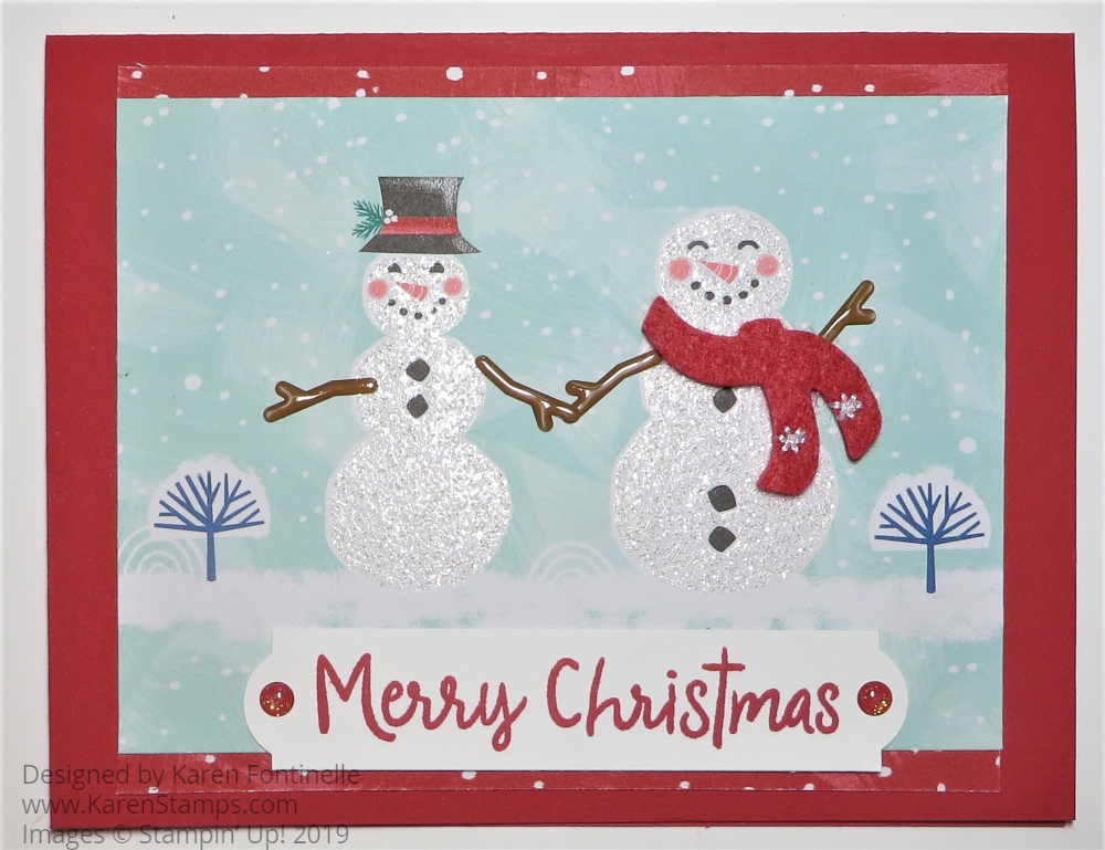 Snowman Christmas Cards Ideas.Let It Snow Snowman Christmas Card Stamping With Karen