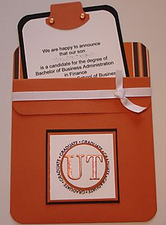 Pocket Graduation Card UT Austin
