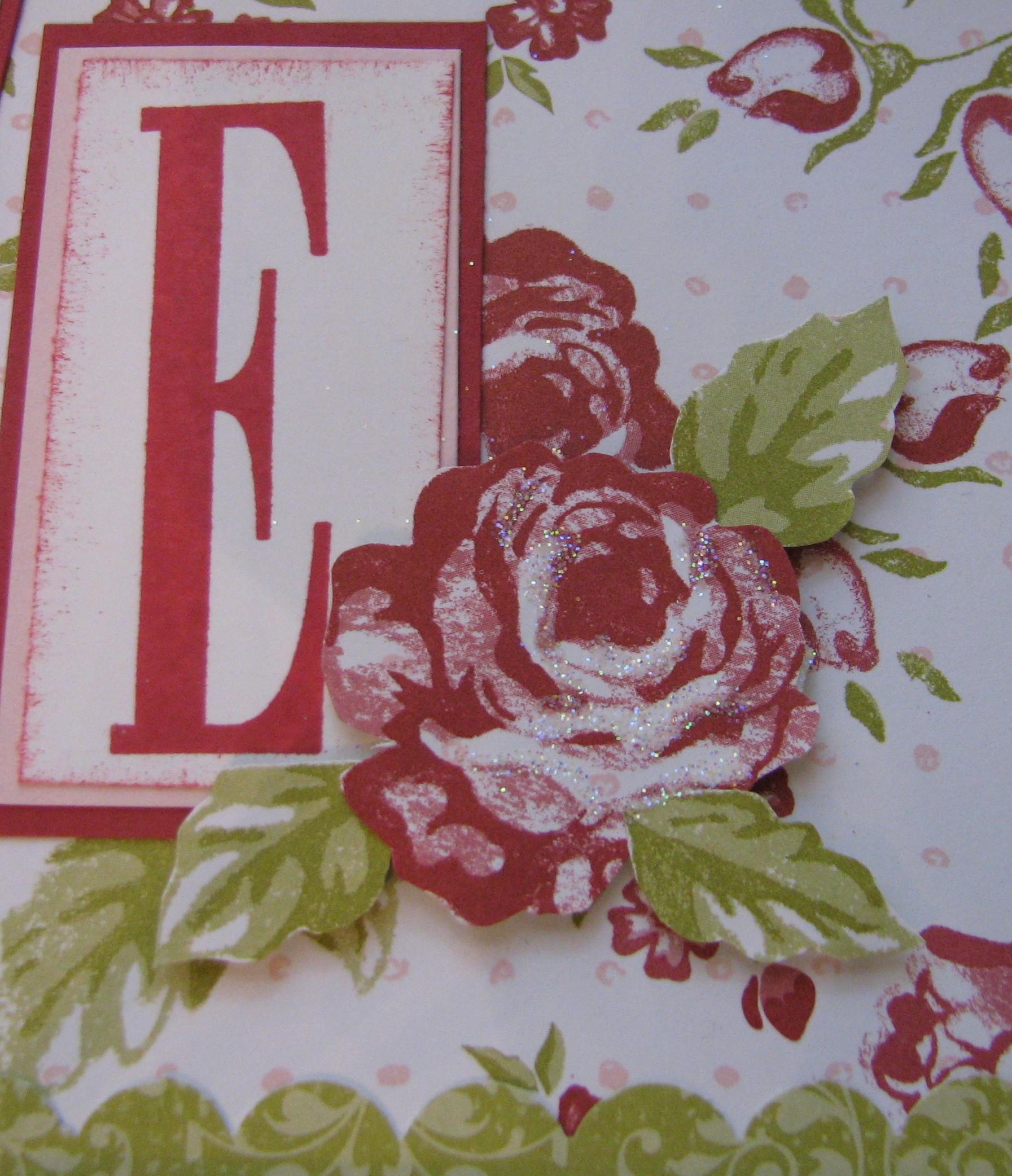 bella rose baby name frame stamping with karen