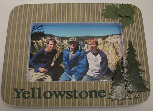 Yellowstone picture frame
