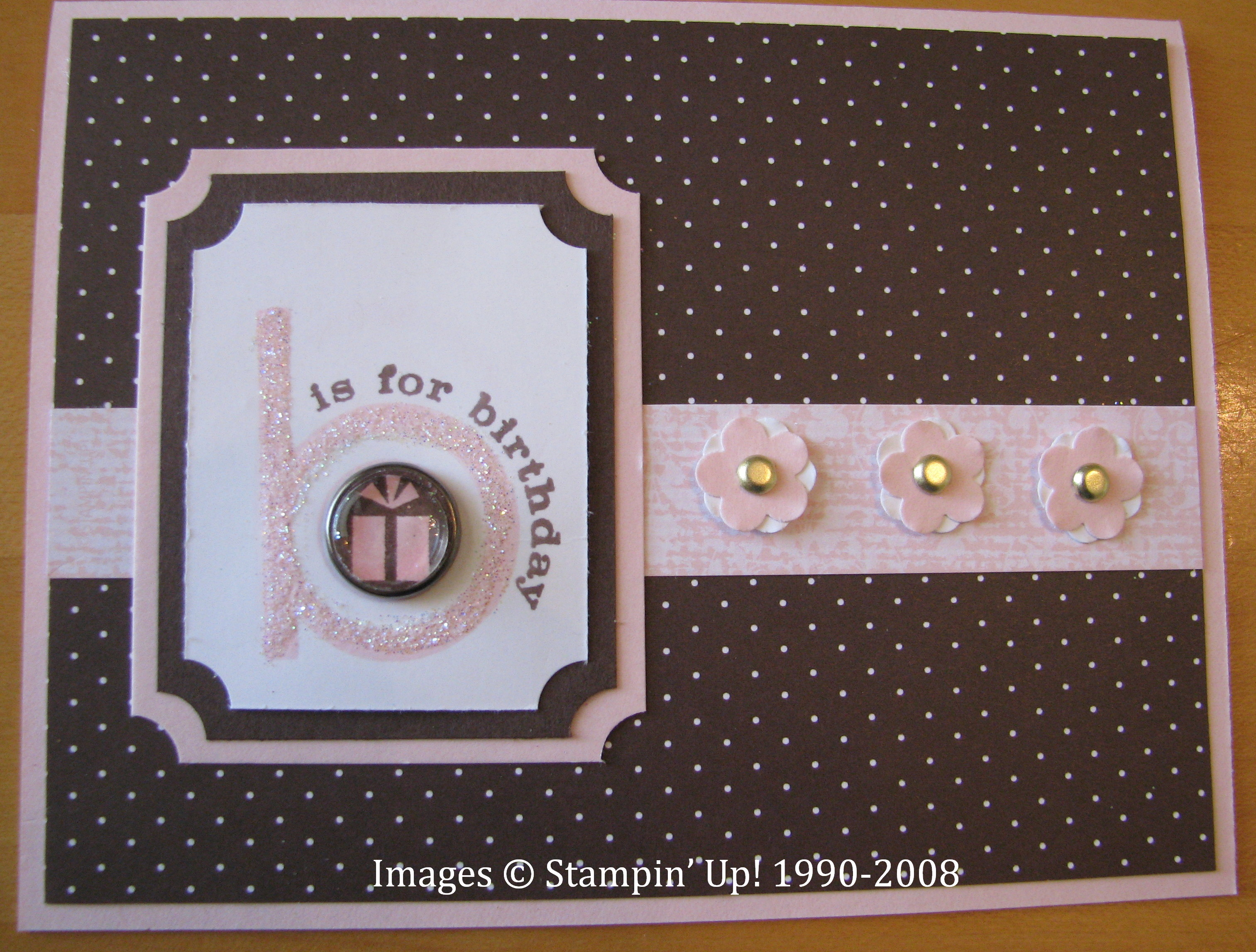 need a birthday card idea stamping with karen