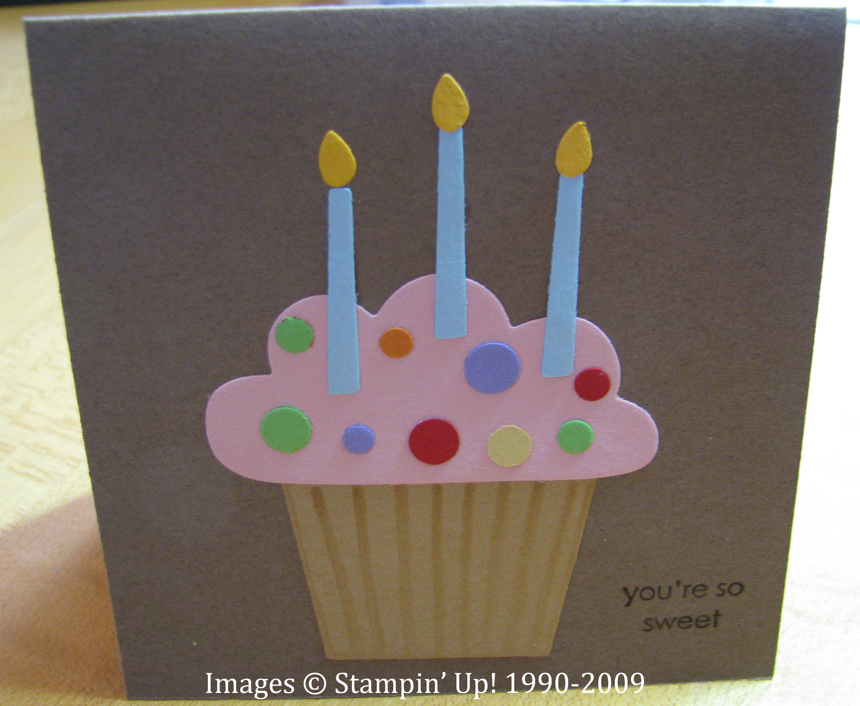 Birthday Cupcake Card – How to Make an Birthday Card