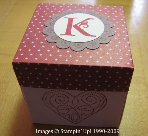 fun explosion box stamping with karen